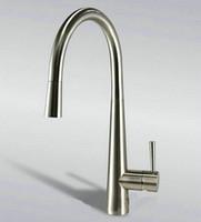 """Wholesale Brushed Nickel Pull Out Faucets - new 16"""" Pull Out Spout Kitchen Sink Faucet Brushed Nickel Mixer Tap Faucet DH-158"""