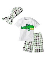 Wholesale boys white vest - Wholesale - clothing clothes boboy set girl set vest shirt T-shirt + shorts pants + hats 3 pieces 5s l