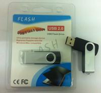 palo de plástico intermitente al por mayor-256 GB 128 GB plástico giratorio USB Flash Memory Stick Unidad de rotación Disco USB Unidad de lápiz