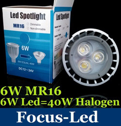 Wholesale Warm White Mr16 Halogen - SAA CE ROHS UL + Warranty 5 Years + AC DC 12V 6W MR16 Led Bulb Downlight 540 LM Cool Pure Warm White Led Spotlight Replace 40W Halogen Lamp
