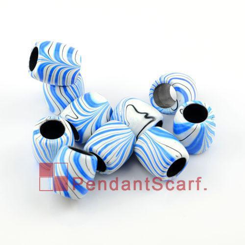/ Top Populaire Bijoux Collier Écharpe Pendentif Ovale Forme En Plastique Perles Avec Charme Bleu Streak, Livraison Gratuite, AC0131C