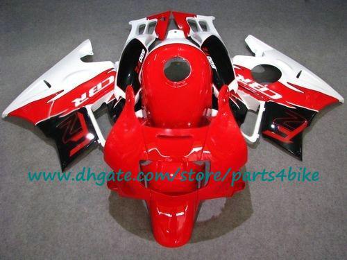 Kit de carénage de moto en plastique ABS pour jeu de carénages 91-94 Honda CBR600 F2 1991 1992 1993 1994 rouge / blanc / noir CBR600 avec 7 cadeaux