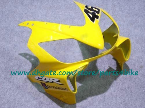 Kit carrozzeria in plastica ABS Honda CBR600 01-03 giallo / bianco Corpo parti carrozzeria Nastro Azzurro CBR600 F4i 2001 2002 2003 carene con 7 regali