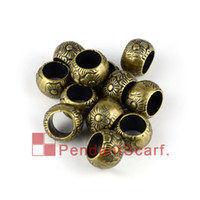 50PCS LOT, Hot Sale Antique Bronze Plated Jewellery Necklace Scarf Pendant Plastic CCB Charm Beads Accessories, Free Shipping, AC0133B