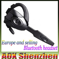 Wholesale free games for mobile phones - New Hot selling black wireless bluetooth game headset mobile phone bluetooth headphone player for PS3 with microphone free shipping EX-01