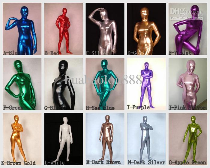 2018 Full Body Lycra Latex Catsuit Adult Size Bodysuit Zentai Suit