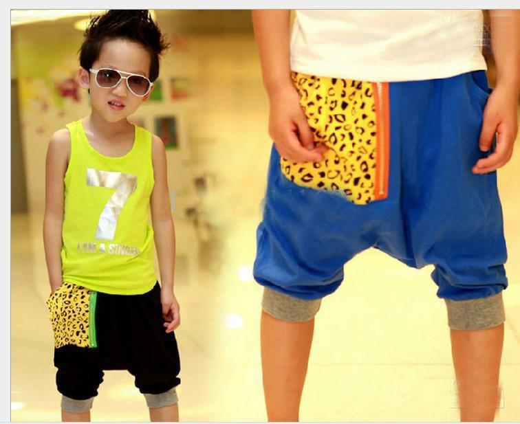 Boy Shorts Children Clothes Boy Leopard Pocket Seven Pants ...