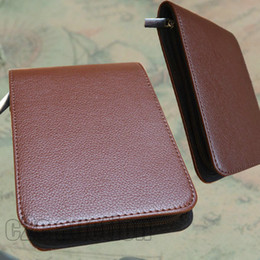 Wholesale File Zipper - FREE SHIPPING LUXURY BROWN 12 ROLLER AND FOUNTAIN PENS CASE HOLDER BINDER PVC ZIPPER