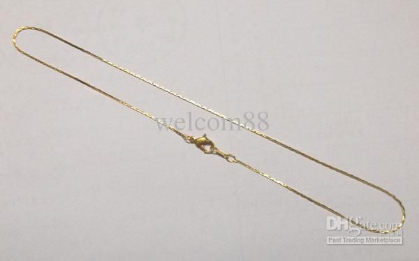 10 pçs / lote de ouro chapeado cadeias de cadeias acessórios para DIY artesanato presente de jóias 16inch go13