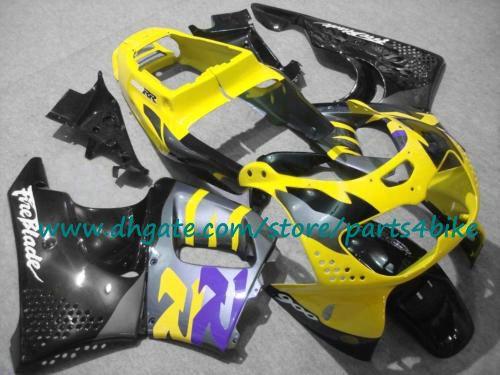 Kit de carenados de carreras de cuerpo azul amarillo negro para Honda CBR900RR 96 97 1996 1997 CBR 900RR 893 kit de carenado con 7 regalos.