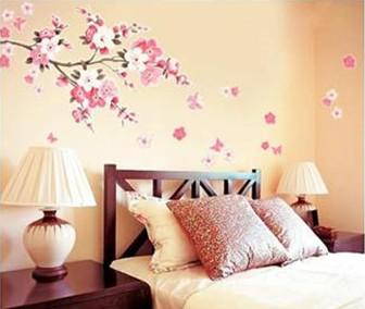 2013 flowers butterfly removable wall sticker decal art diy home decor wall vinyl small decorating decals decorating stickers from sandisk 573 dhgate - Flower Bedroom Decor