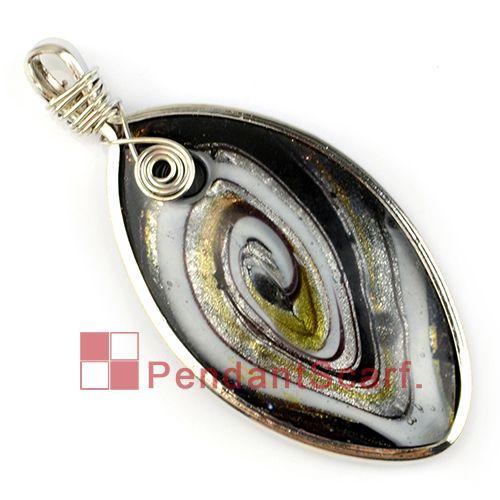/ Mode DIY Bijoux Collier Écharpe Accessoires Forme Ovale En Alliage de Zinc Cadre Charme Conception Pendentif En Verre, Livraison Gratuite, AC0211