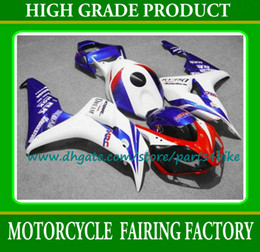 Popular blanco azul rojo 7 regalos racing kit de carenado de la motocicleta para Honda Injection 2006 2007 CBR1000RR 06 07 CBR1000RR carenados kit.