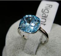 wedding Ring, 18k gold plated Swarovski crystal finger rings ...