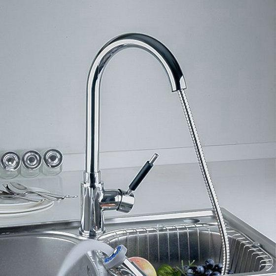 2018 Swivel Pull Out With Spray Kitchen Sink Mixer Tap Chromed ...