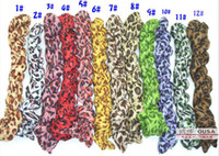 Wholesale Cheap Holiday Scarves - Cheap Women Scarf Leopard Snake Pattern Cotton Voile 10PCS Lot Free Shipping 130606W9