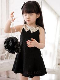 Falda de los niños al por mayor vestido de verano nuevos modelos coreanos calado vestido de princesa vestido de princesa falda desde fabricantes