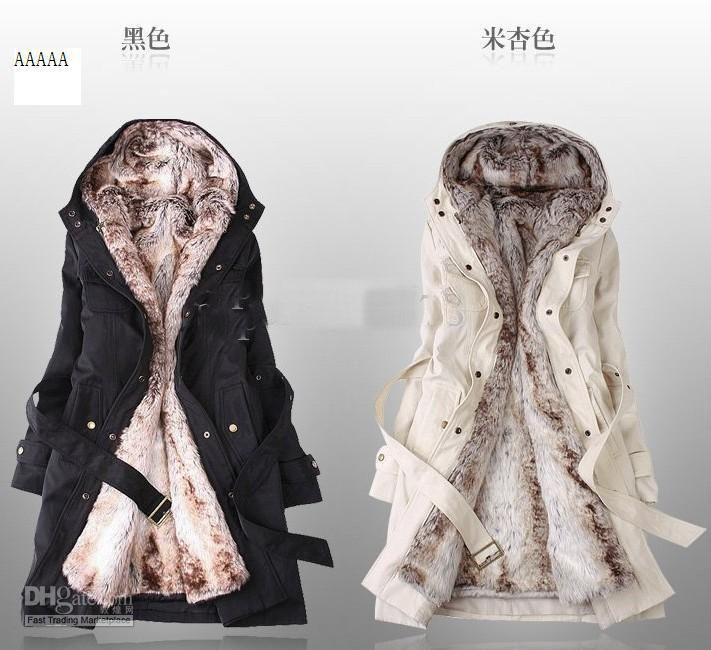 Price Faux Fur Lining Women's Fur Coats, Winter Warm Long Coat ...