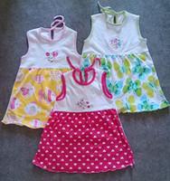 vestido de algodão do bebê venda por atacado-Menor Preço Verão 100% Algodão Meninas Vestido Da Menina vestido de verão jumper Menina pinafore bebê vestido de uma peça vestido de meninas bordar saias 1-3 T