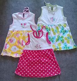 Pinafore Dresses NZ - Lowest Price Summer 100% Cotton Girls Dress Girl sundress jumper Girl pinafore baby dress one-piece girls dresses embroider skirts 1-3T