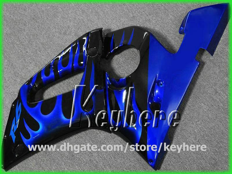 Free 7 gifts Personalizar kit de carenagem para YZF R6 1998 1999 2000 2001 2002 YZFR6 98 99 00 01 02 carenagens G1h blue flames conjunto de carroçaria de motocicleta