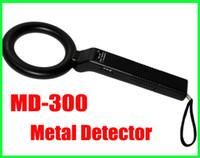 Wholesale wholesale hand held metal detector - Portable Handheld Metal Detector Round High Sensitivity MD300 Genuine hand-held detector MD-300 Adjustable sensitivity vibration alarm