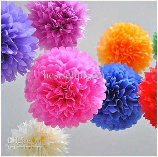 High Quality Diy Colored Paper Flower Ball For Wedding