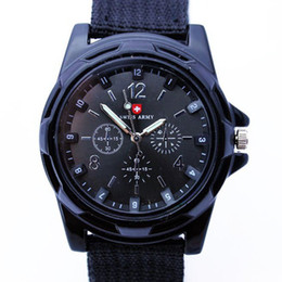 $enCountryForm.capitalKeyWord Australia - Cool Gemius Army Mens Watches Army Racing Force Military Sport For Men Fabric Band Knight Watch Sports Canvas Gemius army Watches for Gift