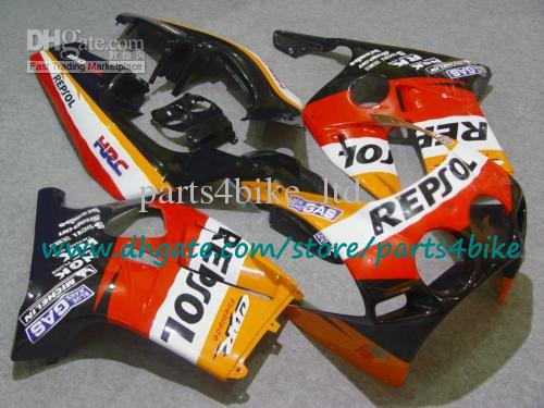 HOT SALE ! ABS fairings kit for Injection mold Honda CBR250RR MC19 1987 1988 1989 CBR250RR 87 88 89 black REPSOL motorcycle set with 7 gifts