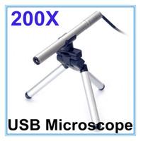 Wholesale Mini Led Microscope - Portable Mini USB Microscope Digital Endoscope with camera 200x 0.3~5MP light LED Digital Microscopes