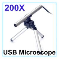 Wholesale Usb Digital Microscope 5mp - Portable Mini USB Microscope Digital Endoscope with camera 200x 0.3~5MP light LED Digital Microscopes