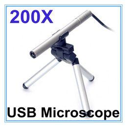 Wholesale Digital Led Stage Lighting - Portable Mini USB Microscope Digital Endoscope with camera 200x 0.3~5MP light LED Digital Microscopes