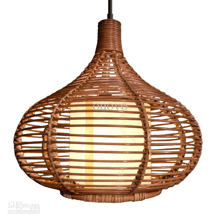 14 Rattan Pendant Light New Modern Study Dining Room