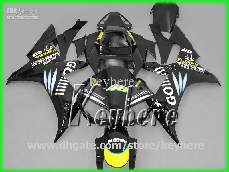 7 cadeaux ABS kit de carénage en plastique pourYAMAHA YZF-R1 2002 2003 YZFR1 02 03 carénages YZF R1 G6g noir de haute qualité GO !!! carrosserie de moto