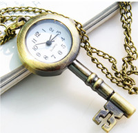 Hot Lovely Cute pocket watch With necklace Key- shaped watch ...
