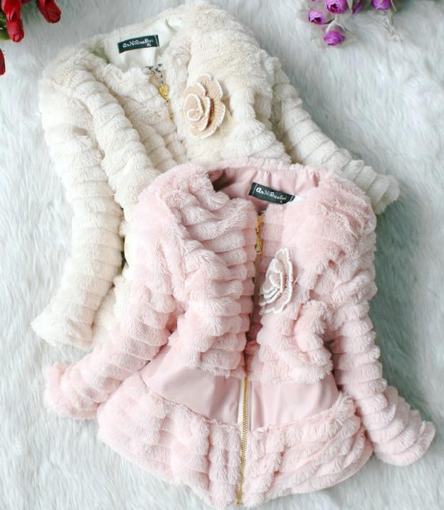 Hot Sale 13 Autumn Winter Girls Faux Fur Coat Children Fashion ...