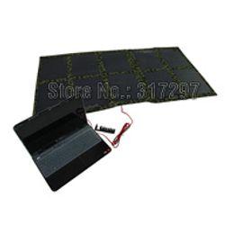 $enCountryForm.capitalKeyWord Canada - Free Shipping DIY Portable Folding 100W 18V Monocrystalline Solar Panel Charger Bag for Laptop 12V Battery Car Boat Battery Factory