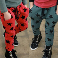 Wholesale Girls Trouser Star - Wholesale - Children Pants star Trousers Baby Spring Models Trousers Girls and Boys pants 5p l