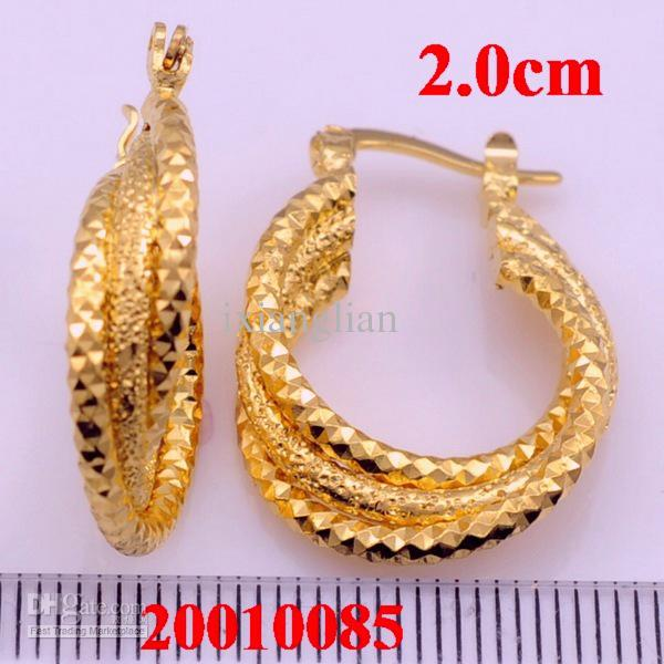 2018 18k Wedding Gold Hoop Earring African Gold Jewelry Great Gift