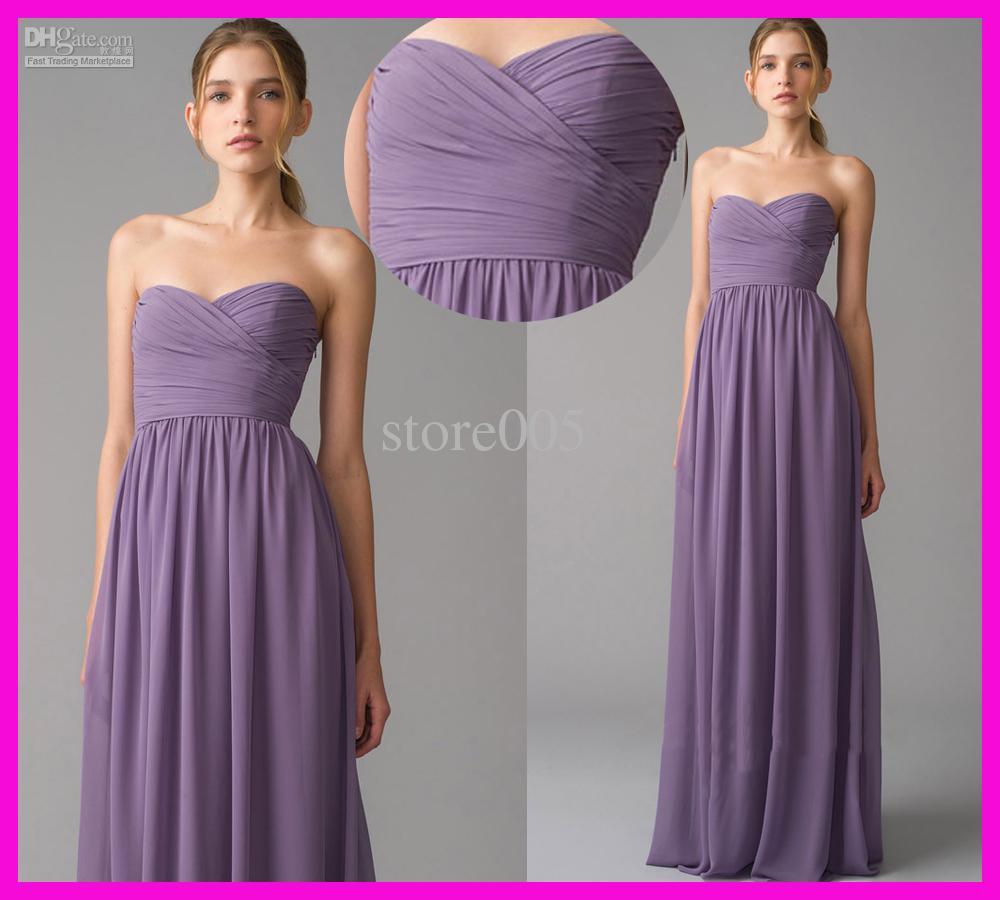 Long Chiffon Bridesmaids Dresses - Ocodea.com