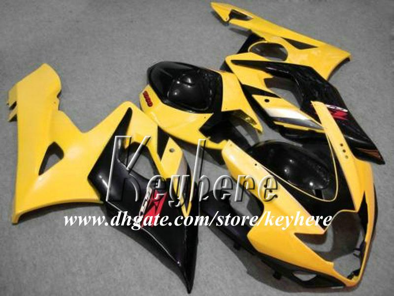7 regali personalizzati Kit carena ABS SUZUKI GSX-R1000 2005 2006 GSXR 1000 05 06 Carene K5 parti di carrozzeria G1q giallo nero carrozzeria