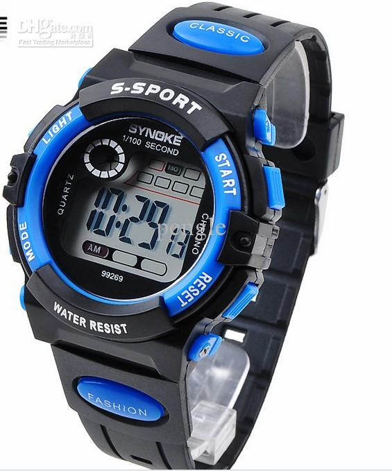 cheap fashion sport digital wrist watch led kids watch