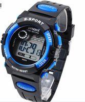 Wholesale Cheap Divers Watches - Cheap Fashion Sport Digital Wrist Watch LED Kids Watch Digital Movement Water Resistant Drop Free Shipping