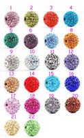 Wholesale Disco Balls Beads - 2015 Crystal 10MM DIY Shamballa Disco Balls Diamante Beads Rhinestone Spacer Beads Mix Sale 100pcs Wholesale