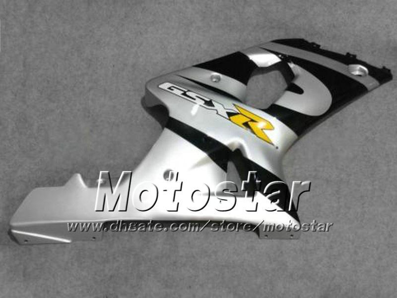 Custom motorcycle fairings with 7gifts for SUZUKI GSXR 1000 K2 2000 2001 2002 GSXR1000 00 01 02 R1000 silver black fairing kit dd58