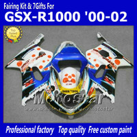 Wholesale gsxr abs motorcycle fairing - Custom motorcycle fairings with 7 gifts for SUZUKI GSXR 1000 K2 2000 2001 2002 GSXR1000 00 01 02 R1000 mix color fairing kit dd60