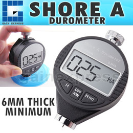 Wholesale Hardness Meter - 560-10A Portable Handheld Shore A Digital LCD Display Hardness Meter Tester Durometer 0~100HA Dial Scale Rubber Tire Zero Setting
