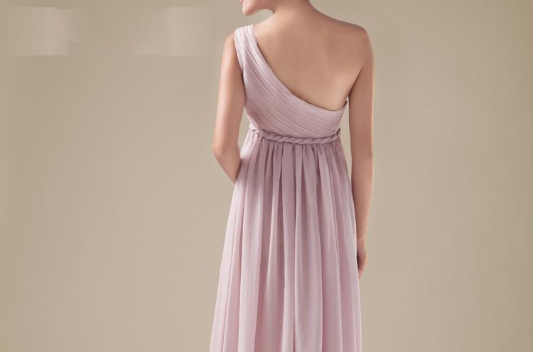 Personalizado perfeito a linha até o chão de um ombro vestido de dama de honra vestidos