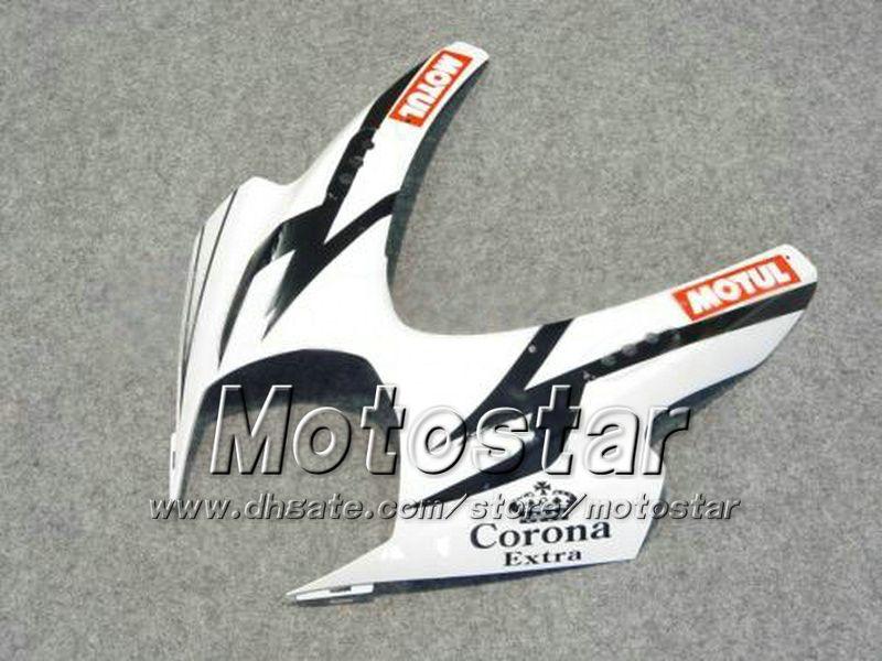 7 Cadeaux carénages moto pour SUZUKI 2007 2008 GSX-R1000 07 08 GSX-R1000 K7 GSXR1000 GSX R1000 carénage Corona ABS blanc dd71
