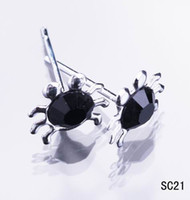 Multi-color Crystal Crabs Ear Studs 925 Sterling Silver Earrings Charm Ear Nail Jóias 20pairs / box para Womens Girls Mens w / stopper SC21 * 1